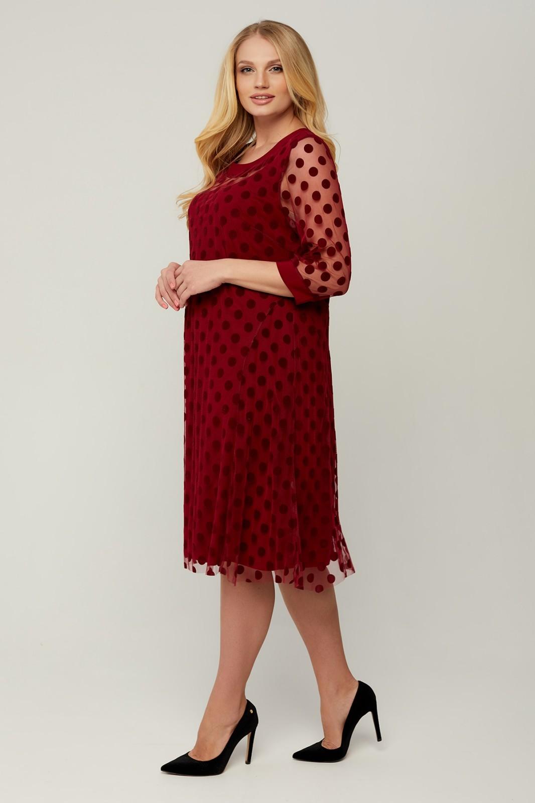Платье Камелия (бордовый)