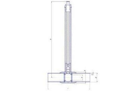 Конструкция LD КШ.Ц.П.GAS.200.025.П/П.02.Н=1500мм полный проход с редуктором
