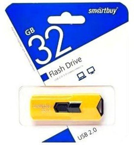 Флеш-накопитель USB 32GB  Smart Buy Stream желтый