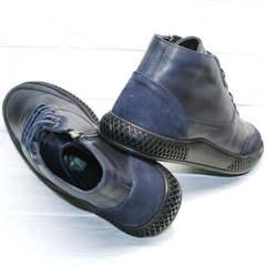 Осенние полуботинки мужские кожаные Luciano Bellini BC2802 L Blue.