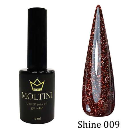 Гель-лак Moltini Shine 009, 12 ml