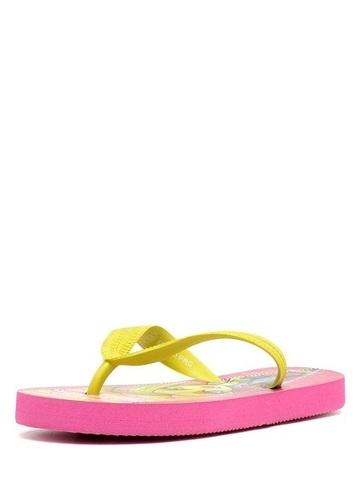 Шлепанцы Монстер Хай (Monster High) пляжные сланцы для девочек, цвет розовый желтый. Изображение 3 из 8.