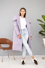 Пальто женское зимнее сирень