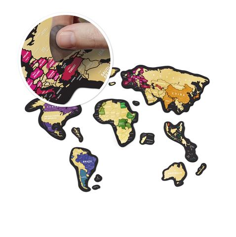 Магнитная карта мира Travel Map MAGNETIC World со скретч слоем 1DEA.ME