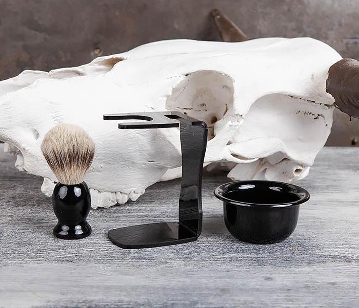 RAZ329 Набор аксессуаров помазок с подставкой и чаша для бритья фото 02