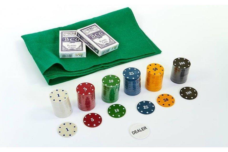 Набор для покера 120 фишек с номиналом