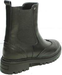 Кожаные демисезонные ботинки женские Jina 7113 Leather Black