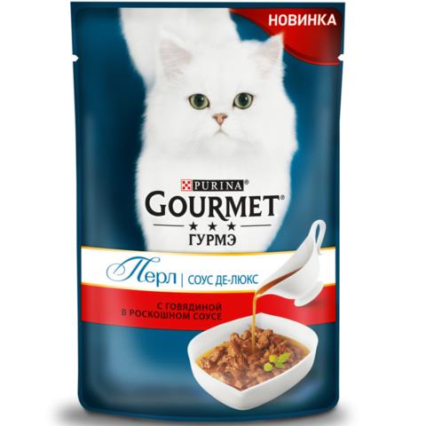 Gourmet пауч корм для взрослых кошек с говядиной 85 г