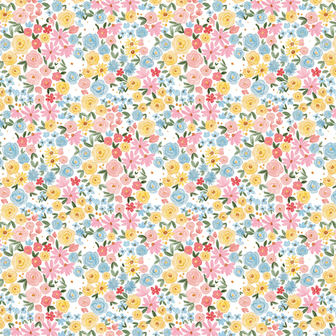Лист двухсторонней бумаги Carta Bella - SUMMER - Bloom and Grow - 30x30