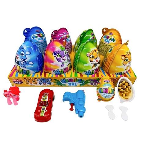 Печенье с шоколадной пастой и игрушкой ШОКОПРИЗ XXL (Тигры)  1кор*6 бл*8шт,30гр