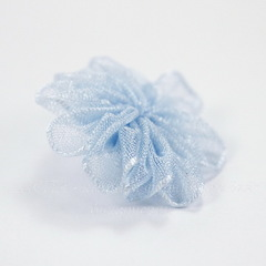 Цветочек голубой из органзы 28 мм