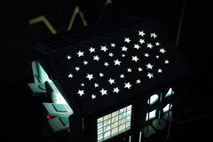 Очень Большой дом Звёздное небо с подсветкой Зеленого цвета с желтыми элементами