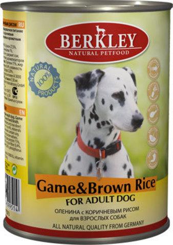 Консервы Berkley Оленина с коричневым рисом для собак