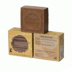 Мыло алеппское оливковое в картонной коробке с круглыми отверстиями  МАСЛО СОСНЫ, 150g ТМ Клеопатра