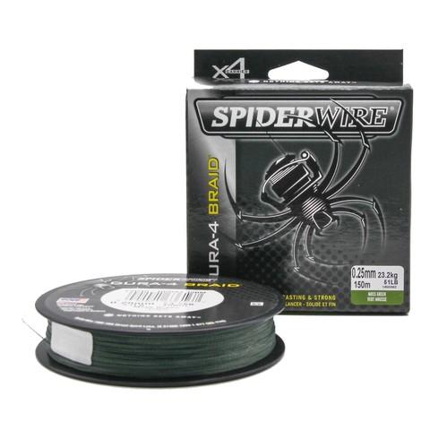 Плетеная леска Spiderwire Dura4 Braid Темно-зеленая 150m 0,25m Mgrn