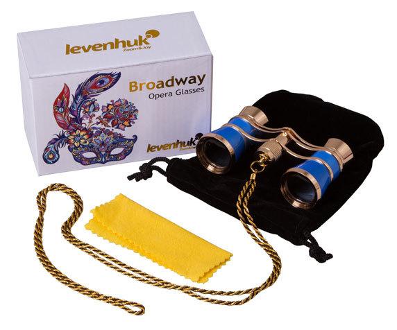 Театральный бинокль с цепочкой Levenhuk Broadway 325C Blue Wave - фото 2 - комплект поставки