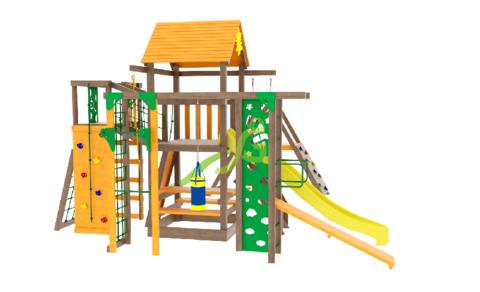 Детская площадка Спорт 3 с качелями гнездо 100см