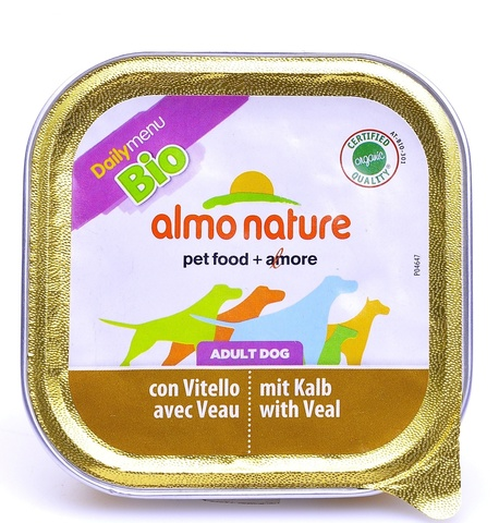 Консервы (ламистер) Almo Nature Daily Menu Bio - Pate Veal
