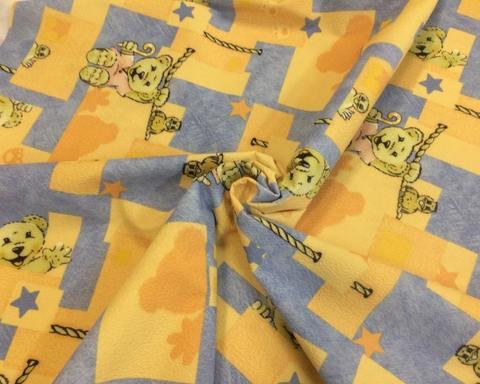 Флок мишки желтые