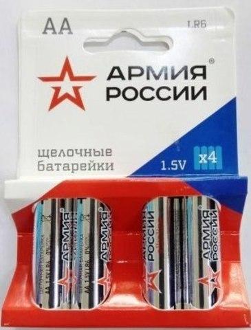 Элемент питания ТРОФИ LR6 Армия России к-т 4шт 1/10/160