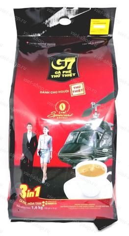 Вьетнамский растворимый кофе G7, 3 в 1 , Original, 100 пак.