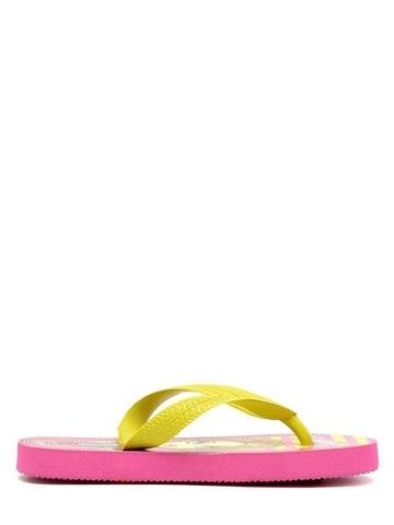 Шлепанцы Монстер Хай (Monster High) пляжные сланцы для девочек, цвет розовый желтый. Изображение 5 из 8.