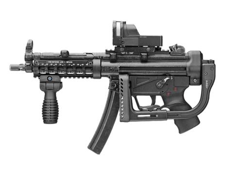 Тактическая рукоять складная быстросъемная FAB Defense (T-FS) Picatinny / Weaver