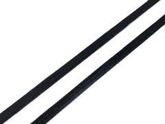 Резинка отделочная черная 6 мм Lauma