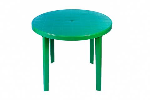 Стол круглый пластиковый 900х900х750мм зеленый