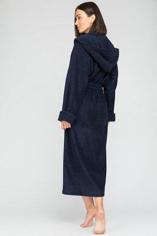 Женский махровый халат с капюшоном 903