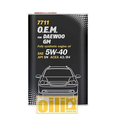 Mannol 7711 O.E.M. for DAEWOO GM 5W-40 1л