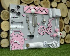 Бизиборд компакт розовый для девочки