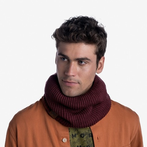 Вязаный шарф-труба с флисом Buff Neckwarmer Knitted Polar Raisa Tidal фото 2