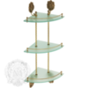 Полка с галереей угловая тройная Migliore Cleopatra ML.CLE-60.763