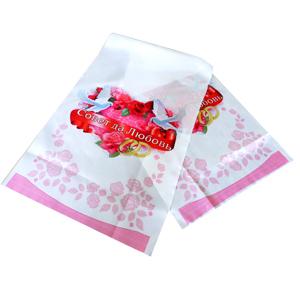 Рушник Голуби розовый 135см х30см
