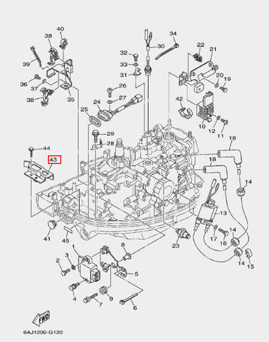 Скоба-держатель для лодочного мотора F20 Sea-PRO (12-43)