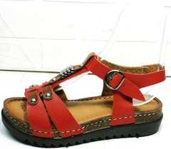 Кожаные женские сандалии босоножки на маленькой платформе Rifellini Rovigo 375-1161 Rad.
