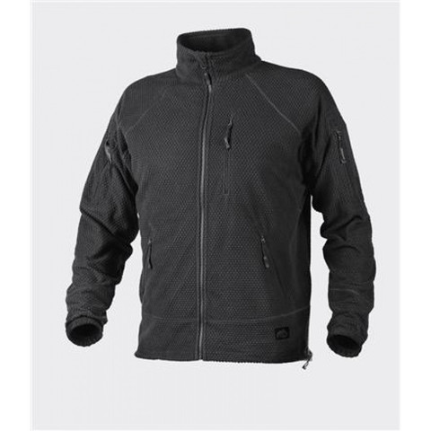 Куртка флис Helikon ALPHA TACTICAL Jacket - Grid Fleece - Black