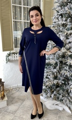 Оливия. Оригинальное нарядное женское платье. Синий