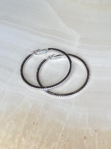 Серьги Вивия, серебряный цвет