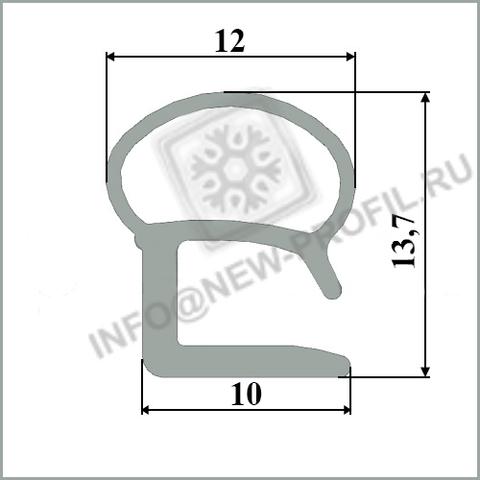 Уплотнитель для холодильника Стинол 232Q м.к 260*490 мм (015)
