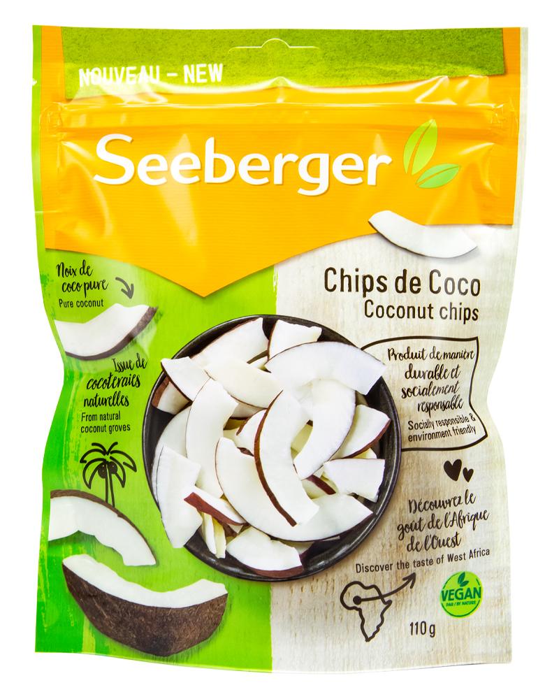 Чипсы Seeberger кокосовые 110 гр.