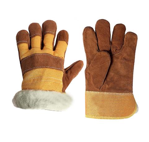 Утепленные спилковые перчатки АНГАРА