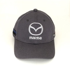 Кепка с вышитым логотипом Мазда (Кепка MAZDA) серая