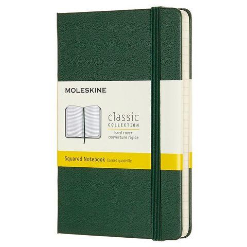 Блокнот Moleskine CLASSIC MM712K15 Pocket 90x140мм 192стр. клетка твердая обложка зеленый
