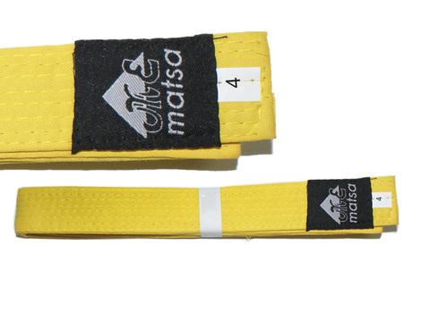 Пояс карате. Материал:  хлопок. Цвет жёлтый. Длина 2,58 м (4).