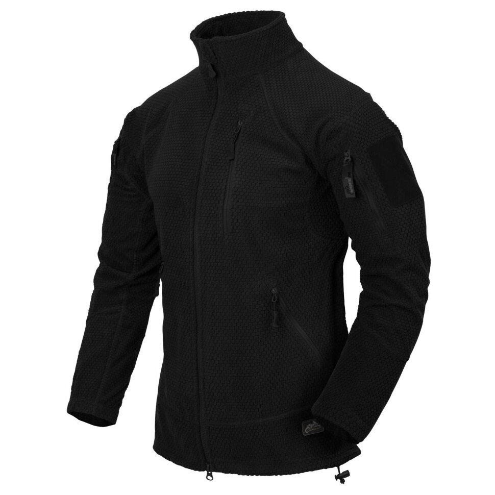 Куртка флис Helikon ALPHA TACTICAL Jacket - Grid Fleece - Black