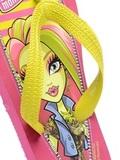 Шлепанцы Монстер Хай (Monster High) пляжные сланцы для девочек, цвет розовый желтый. Изображение 2 из 8.