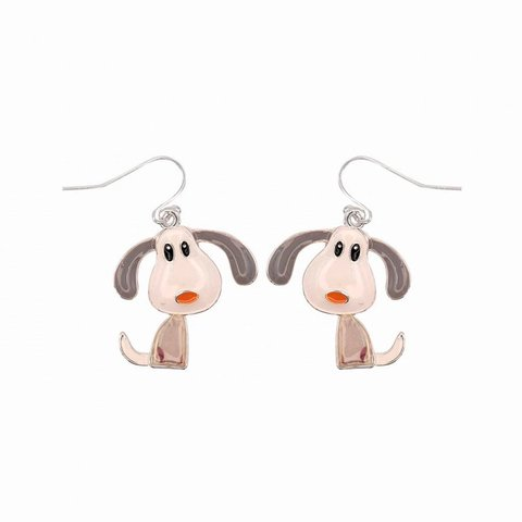 Серьги Собаки EH0844.1 BW/S