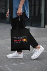 Мужская сумка-шоппер с принтом Астон Мартин (Aston Martin) черная 001